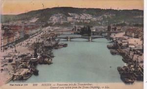 France Rouen Panorama pris du Transbordeur 1920