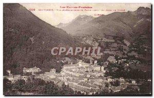 Old Postcard Cauterets General view taken or Paure old Au Fond The Monne