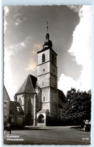 *Crailsheim Germany Johanniskirche Church Clock RPPC Vintage Photo Postcard C80