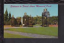 Forest Lawn Memorial Park,Glendale,CA Postcard BIN