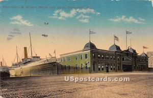 Merchants & Miners Ships & Dock Baltimore MD 1914