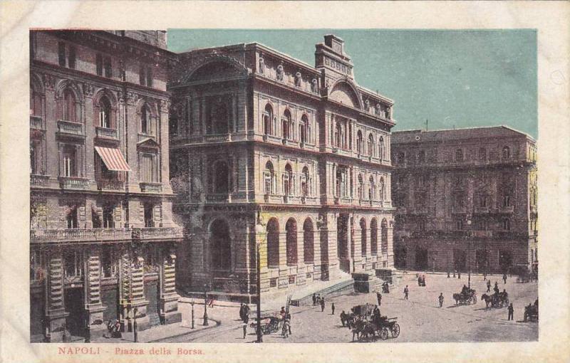 Piazza Della Borsa, Napoli (Campania), Italy, 1900-1910s