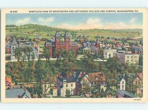 Pre-Chrome COLLEGE SCENE Washington - Near Bethel Park & Pittsburgh PA AG7870