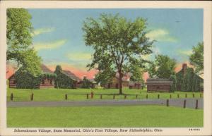 Schoenbrunn Village State memorial Ohio Philadelphia linen