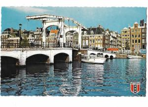 Meagre Bridge Across the Amstel Amsterdam Noord Holland