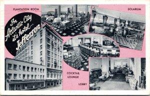 Postcard Jefferson Hotel, Kentucky Avenue in Atlantic City, New Jersey~132258