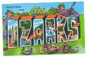 6-Views, Greetings from the OZARKS, World's oldest mountains, Missouri and Ar...