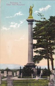 Vermont Ethan Allen Monument Burlington Vermont 1909