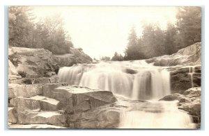 Postcard Little Niagara - Sourdnahunk Stream printed Baxter State Park Camp L42