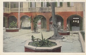 NEW ORLEANS , Louisiana , 1910s ; Old French Court Yard