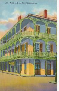 Louisiana New Orleans Lace Work In Iron French Quarter Curteich