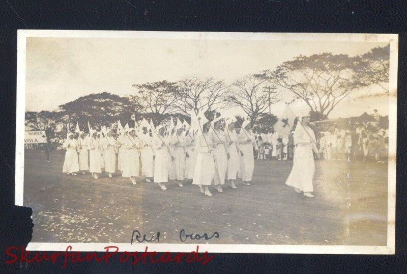 MANILA PHILIPPINES U.S. ARMY RED CROSS WWI ERA VINTAGE REAL PHOTO PHOTOGRAPH