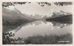 RP: JASPER PARK , Alberta , Canada , 1930-40s ; Maligne Lake
