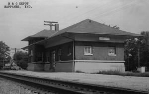 Nappanee Indiana BO Railroad Depot Real Photo Vintage Postcard K101431