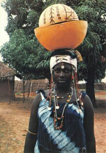 Postcard, Mandinka Newly-Wed Girl in The Gambia Africa, Black Woman, Fashion 46Z