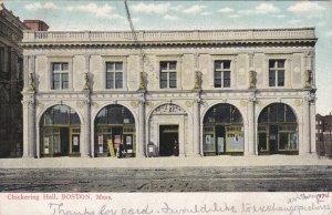 BOSTON, Massachusetts, PU-1908; Chickering Hall