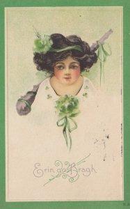 ST. PATRICK'S DAY : Woman & club , 1921