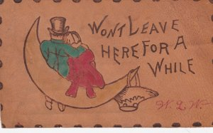 LEATHER ; Couple on Paper Moon , 1906