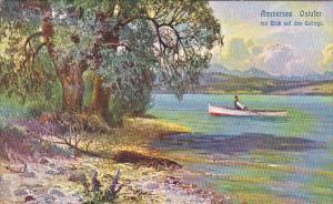 Boating, Ostufer Mit Blick Das Gebirge, Ammersee (Bavaria), Germany, 1900-1910s