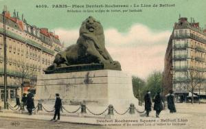 France Paris Place denfert Rochereau Le Lion de Belfort 01.96