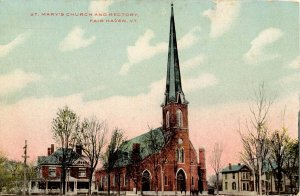 VT - Fair Haven. St Mary's Church and Rectory
