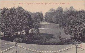 France Reims Perspective des Promenades prise du Kiosque de la Patte d'Oie