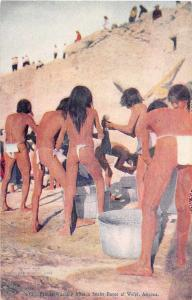Wolpi Arizona Priests Washing after Snake Dance Antique Postcard J49909