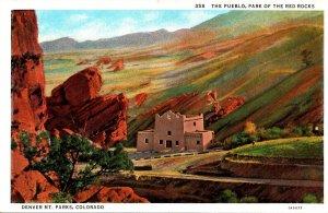 Colorado Denver Mountain Parks The Pueblo Park Of The Red Rocks Curteich