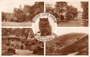 Malvern, Black Cat Kitten, Good Luck! Multiviews, Abbey Gateway Car Beacon 1955
