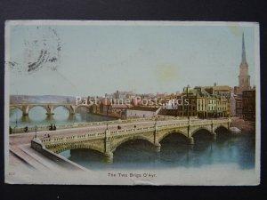 Scotland THE TWA BRIGS O'AYR c1904 Postcard