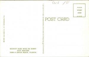 Pass-A-Grille St. Petersburg Beach Florida Vintage chrome Postcard pc