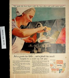 1958 Campbell's Canned Food Kitchen Cooking Vintage Print Ad 4522
