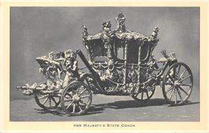 Vintage Vehicle: Her Majesty's State Coach Carriage Car Royal Buckingham Palace