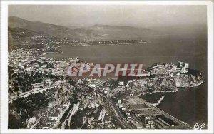 Modern Postcard Monaco Monte Carlo and Cap Martin Frontiere Italian
