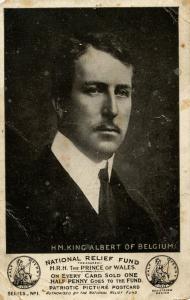 Belgian Royalty - King Albert     (Card is damaged)