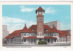 Maine Portland Grand Trunk Station Curteich