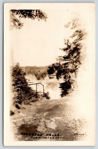 Oliver Paipoonge-Fort William ON~Kakabeka Falls~Railing, Watch Your Step! RPPC