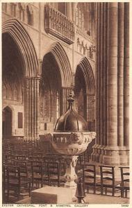 Exeter Cathedral Font and Minstrel Gallery