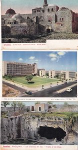 Jerusalem Davids Tombs Of The Kings Tel Aviv Histraduth Building 3x Postcard s