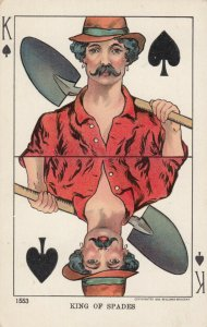 Playing Cards ; Miner King of Spades , 1905