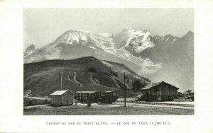 france, Mont Blanc, Col-de-Voza, Chemin de Fer, Railway Station, Train (1910s)