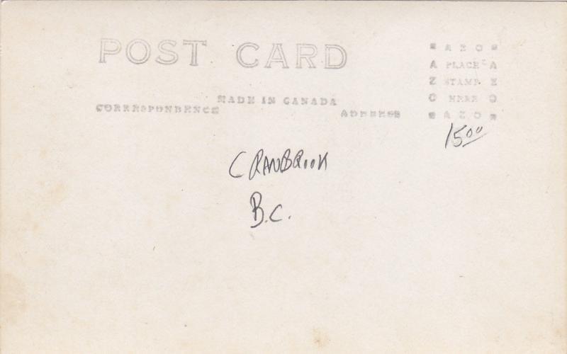 RP: CRANBROOK , B.C. , Canada , 00-10s ; Mount Baker Hotel