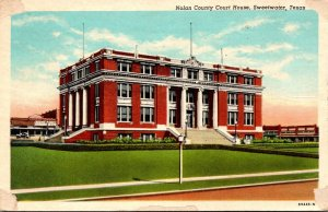 Texas Sweetwater Nolan County Court House 1954