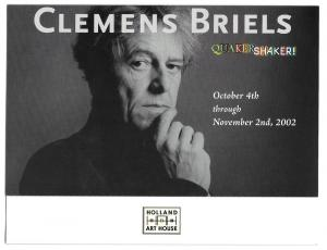 West Chester PA Clemens Briels Art Exhibit Invitation 2002