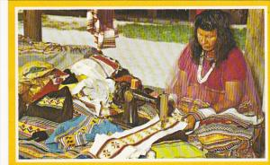 Woman Making Colorful Indian Apparel Florida Everglades