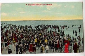 Crowded Beach Scene
