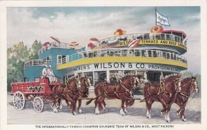 Illinois Chicago World's Fair Six Horse Team Wilson & Co Meat Packers sk5987