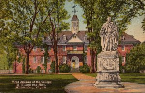 Virginia Williamsburg Wren Building College Of William and Mary Curteich