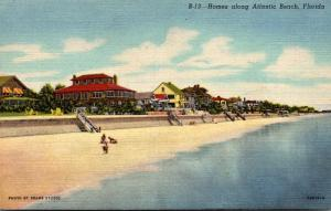 Florida Atlantic Beach Beachfront Homes 1950 Curteich