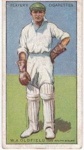 Cigarette Cards Player's Cricketers 1930 No 35 - W A Oldfield